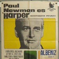 Cine: OD77 HARPER INVESTIGADOR PRIVADO PAUL NEWMAN POSTER ORIGINAL 70X100 ESTRENO. Lote 27065277