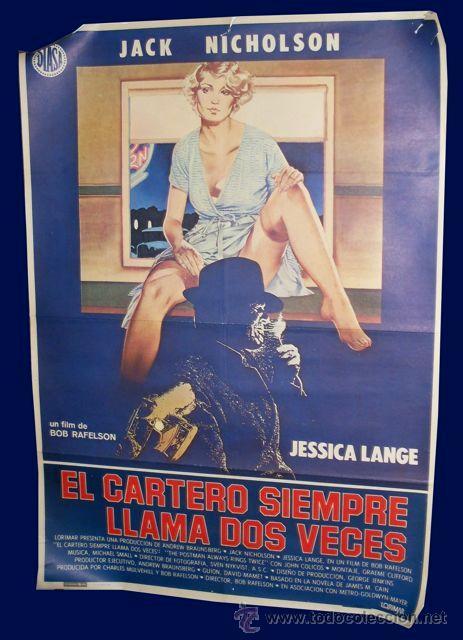CARTEL EL CARTERO SIEMPRE LLAMA DOS VECES - JACK NICHOLSON - JESSICA LANGE (Cine - Posters y Carteles - Suspense)