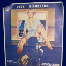 Cinema: CARTEL EL CARTERO SIEMPRE LLAMA DOS VECES - JACK NICHOLSON - JESSICA LANGE. Lote 27128716