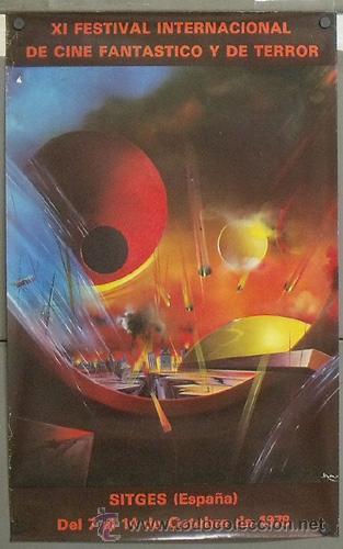 E478 11ª EDICION FESTIVAL DE CINE FANTASTICO Y DE TERROR SITGES 1978 50X80 (Cine - Posters y Carteles - Terror)