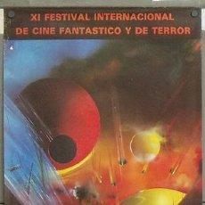 Cine: E478 11ª EDICION FESTIVAL DE CINE FANTASTICO Y DE TERROR SITGES 1978 50X80. Lote 114928771