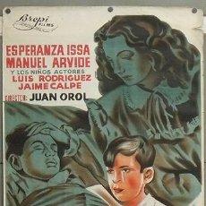 Cine: E546 EL CORAZON NO MIENTE JUAN OROL POSTER ORIGINAL 70X100 DEL ESTRENO LITOGRAFIA. Lote 27164685