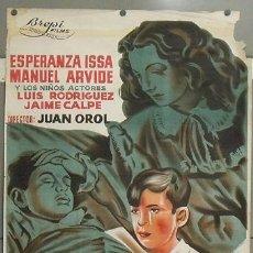 Cine: E547 EL CORAZON NO MIENTE JUAN OROL POSTER ORIGINAL 70X100 DEL ESTRENO LITOGRAFIA. Lote 27164734