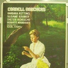 Cine: OE08 AMOR IMPOSIBLE CORNELL BORCHERS BARBARA RUTTING DIETER BORSCHE POSTER ORIGINAL 70X100 ESTRENO. Lote 27168357