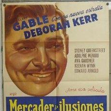 Cine: YZ78D THE HUCKSTERS CLARK GABLE DEBORAH KERR POSTER ORIGINAL ARGENTINO 75X110 LITOGRAFIA. Lote 27173099