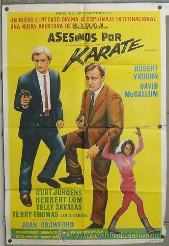 WQ44D KARATE KILLERS AGENTE DE CIPOL ROBERT VAUGHN POSTER ORIGINAL ARGENTINO 75X110 LITOGRAFIA (Cine - Posters y Carteles - Acción)