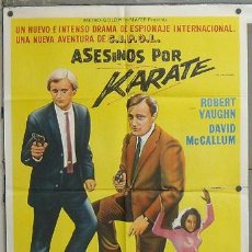 Cine: WQ44D KARATE KILLERS AGENTE DE CIPOL ROBERT VAUGHN POSTER ORIGINAL ARGENTINO 75X110 LITOGRAFIA. Lote 27173744