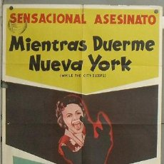 Cine: YZ84D MIENTRAS NUEVA YORK DUERME FRITZ LANG POSTER ORIGINAL ARGENTINO 75X110 LITOGRAFIA. Lote 27174157
