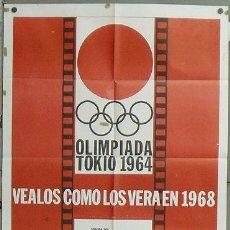Cine: OE16 OLIMPIADA DE TOKIO POSTER ORIGINAL 70X94 MEJICANO LITOGRAFIA. Lote 27175648