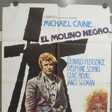 Cine: OE31 EL MOLINO NEGRO MICHAEL CAINE MAC POSTER ORIGINAL ESTRENO 70X100. Lote 27188580