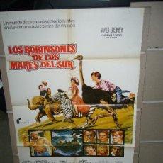 Cine: LOS ROBINSONES DE LOS MARES DEL SUR WALT DISNEY POSTER ORIGINAL 70X100 POSIBILIDAD DE BLU RAY. Lote 27190918
