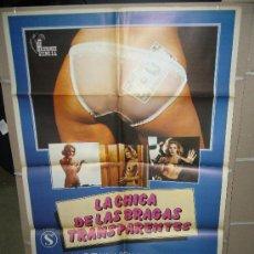 Cine: LA CHICA DE LAS BRAGAS TRANSPARENTES JESUS FRANCO POSTER ORIGINAL 70X100. Lote 27190971