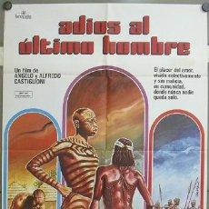 Cine: OE82 ADIOS AL ULTIMO HOMBRE ANGELO ALFREDO CASTIGLIONI TRASH POSTER ORIGINAL 70X100 ESTRENO. Lote 27191427