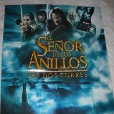 Cine: PÓSTER / CARTEL EL SEÑOR DE LOS ANILLOS (LAS DOS TORRES), AL REVERSO HARRY POTTER . Lote 27243669