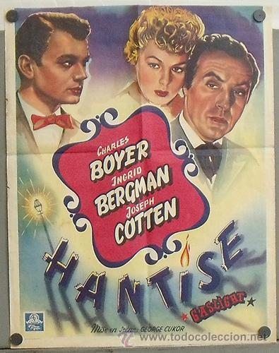 XJ95D LUZ QUE AGONIZA INGRID BERGMAN CHARLES BOYER POSTER ORIGINAL BELGA 37X47 (Cine- Posters y Carteles - Drama)