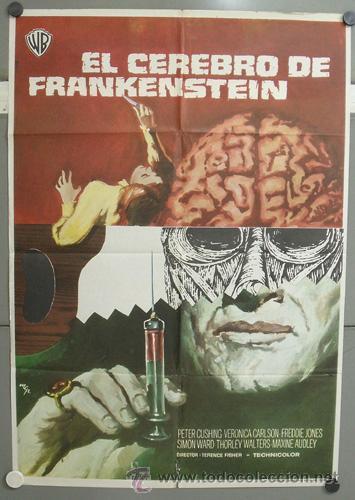 ZM59D EL CEREBRO DE FRANKENSTEIN PETER CUSHING TERENCE FISHER HAMMER POSTER ORIGINAL 70X100 ESTRENO (Cine - Posters y Carteles - Terror)