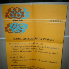 Cine: REVISTA CINEMATOGRAFICA ESPAÑOLA NODO Nº 1650 POSTER ORIGINAL 50X40 1974. Lote 27239864