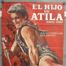 Cine: OF63 EL HIJO DE ATILA PEPLUM POSTER ORIGINAL 70X100 ESTRENO. Lote 27240001