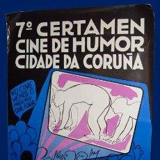 Cine: 7º CERTAMEN CINE DE HUMOR CIDADE DA CORUÑA - CARTEL - 67X97CM - 1979. Lote 27290077
