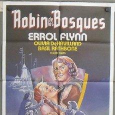 Cine: OF80 ROBIN DE LOS BOSQUES ERROL FLYNN POSTER ORIGINAL 70X100 ESPAÑOL. Lote 27307091