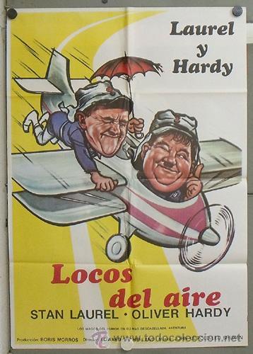 OF90 LOCOS DEL AIRE STAN LAUREL OLIVER HARDY LEGION EXTRANJERA POSTER ORIGINAL 70X100 (Cine - Posters y Carteles - Comedia)