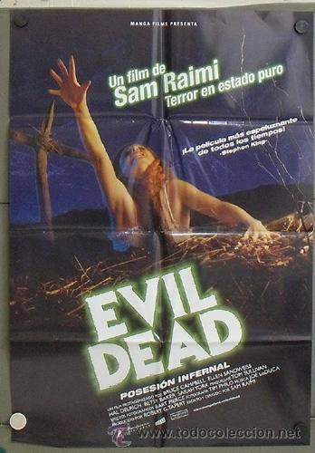 OG18 POSESION INFERNAL EVIL DEAD SAM RAIMI POSTER ORIGINAL 70X100 ESPAÑOL (Cine - Posters y Carteles - Terror)