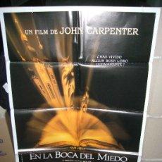 Cine: EN LA BOCA DEL MIEDO JOHN CARPENTER POSTER ORIGINAL 70X100 Q. Lote 134354922