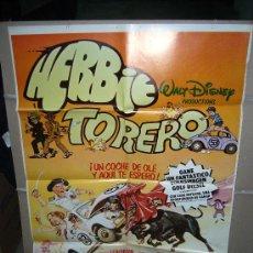 Cine: HERBIE TORERO WALT DISNEY AUTOMOVILISMO VOLKSWAGEN POSTER ORIGINAL 70X100 Q. Lote 27405266