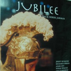 Cine: JUBILEE - DEREK JARMAN - POSTER CARTEL ORIGINAL - BRIAN ENO TEMATICA GAY - POSTER 70 X 100. Lote 295455058