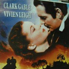 Cinéma: LO QUE EL VIENTO SE LLEVO - POSTER CARTEL ORIGINAL CLARK GABLE VIVIEN LEIGH GONE WITH THE WIND. Lote 51480615