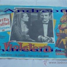Cine: LA VIOLETERA. SARITA MONTIEL, RAF VALLACE (AROFILMS MEXICO) FRANK VILLARD Y ANA MARISCAL . Lote 27636255