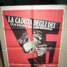 Cine: LA CAIDA DE LOS DIOSES LUCHINO VISCONTI POSTER ORIGINAL DEL ESTRENO 70X100. Lote 27668415