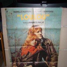 Cine: LOULOU DEPARDIEU ISABELLE HUPPERT POSTER ORIGINAL 70X100 Q. Lote 27729903