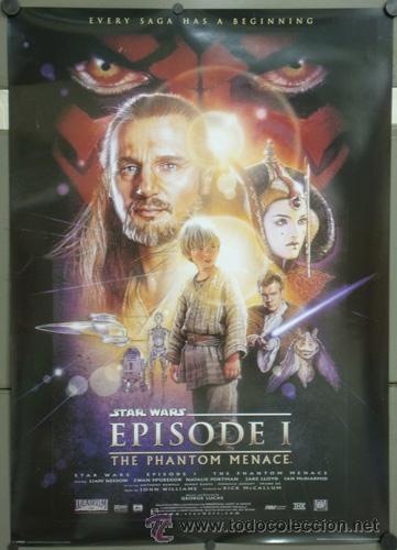 E685 LA AMENAZA FANTASMA EPISODIO 1 STAR WARS POSTER 70X100 (Cine - Posters y Carteles - Ciencia Ficción)