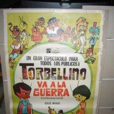 Cine: TORBELLINO VA A LA GUERRA ANIMACION POSTER ORIGINAL 70X100. Lote 27811288