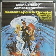 Cine: E727 DIAMANTES PARA LA ETERNIDAD JAMES BOND 007 SEAN CONNERY POSTER ORIGINAL 70X100 ESPAÑOL R-83. Lote 226400970