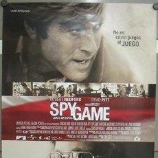 Cine: E781 JUEGO DE ESPIAS SPY GAME BRAD PITT ROBERT REDFORD POSTER ORIGINAL 70X100 DE ESTRENO. Lote 96607615