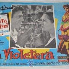 Cine: CARTELERA DE CINE DE LA VIOLETERA CON SARITA MONTIEL Y RAF VALLONE. Lote 27836736