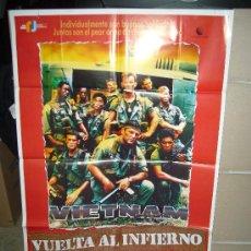Cine: VIETNAM VUELTA AL INFIERNO POSTER ORIGINAL 70X100. Lote 27837885