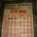 Cine: CARTEL DEL NOTICIARIO Y DOCUMENTAL CINEMATOGRAFICO NODO. NUMERO 989 C. Lote 27886856