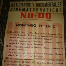 Cine: CARTEL DEL NOTICIARIO Y DOCUMENTAL CINEMATOGRAFICO NODO. NUMERO 954 C. Lote 247118715