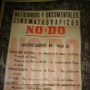 Cine: CARTEL DEL NOTICIARIO Y DOCUMENTAL CINEMATOGRAFICO NODO. NUMERO 960 A. Lote 27886883