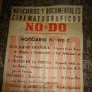 Cine: CARTEL DEL NOTICIARIO Y DOCUMENTAL CINEMATOGRAFICO NODO. NUMERO 970 C. Lote 27886897