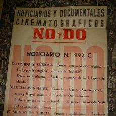 Cine: CARTEL DEL NOTICIARIO Y DOCUMENTAL CINEMATOGRAFICO NODO. NUMERO 992 C. Lote 27886902