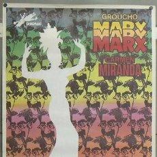 Cine: E1026 COPACABANA GROUCHO MARX CARMEN MIRANDA POSTER ORIGINAL 70X100. Lote 27893320