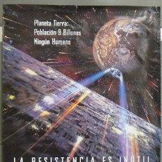 Cinema: E1029 STAR TREK PRIMER CONTACTO PATRICK STEWART LOTE DE 5 POSTERS ORIGINAL 70X100. Lote 27893678
