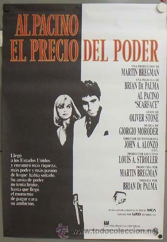 E1074 EL PRECIO DEL PODER AL PACINO BRIAN DE PALMA POSTER ORIGINAL 70X100 ESTRENO (Cine- Posters y Carteles - Drama)