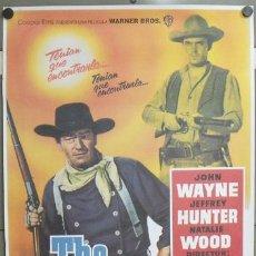 Cine: E1078 CENTAUROS DEL DESIERTO THE SEARCHERS JOHN WAYNE POSTER ORIGINAL 70X100. Lote 192900682