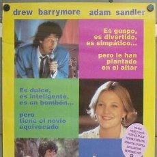 Cine: E1158 EL CHICO IDEAL ADAM SANDLER DREW BARRYMORE STEVE BUSCEMI POSTER ORIGINAL 70X100 ESTRENO. Lote 27943824