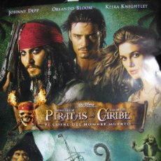 Cine: POSTER ORIGINAL-PIRATAS DEL CARIBE 2-EL COFRE DEL HOMBRE MUERTO-97CM ALTO POR 68 ANCHO . Lote 79845586